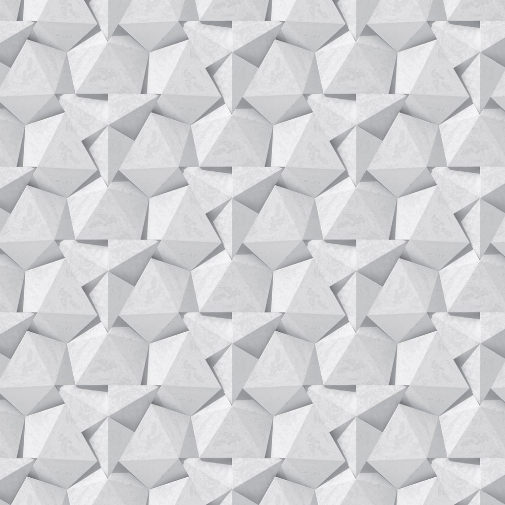 Papel de Parede Geométrico Muro de Pedras Efeito 3D