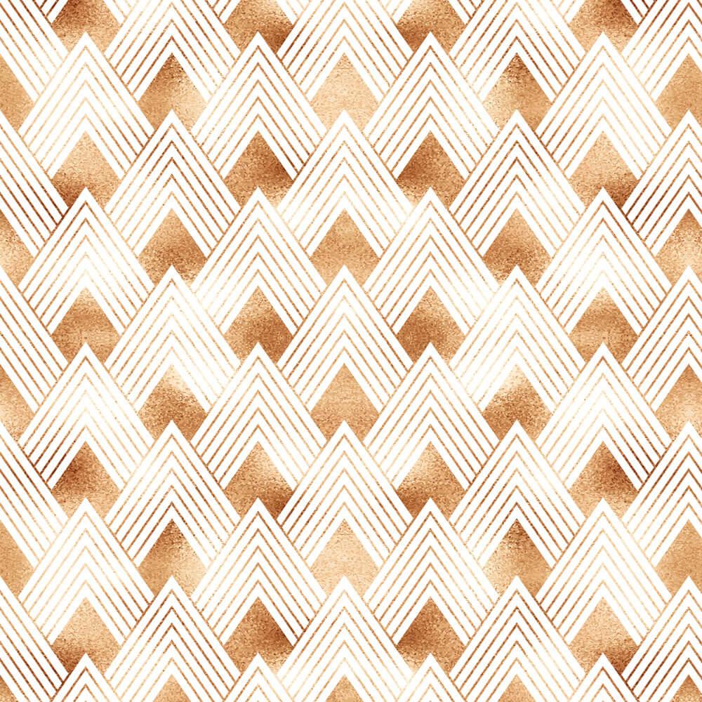 Papel de Parede Geométrico Pirâmides Efeito Dourado