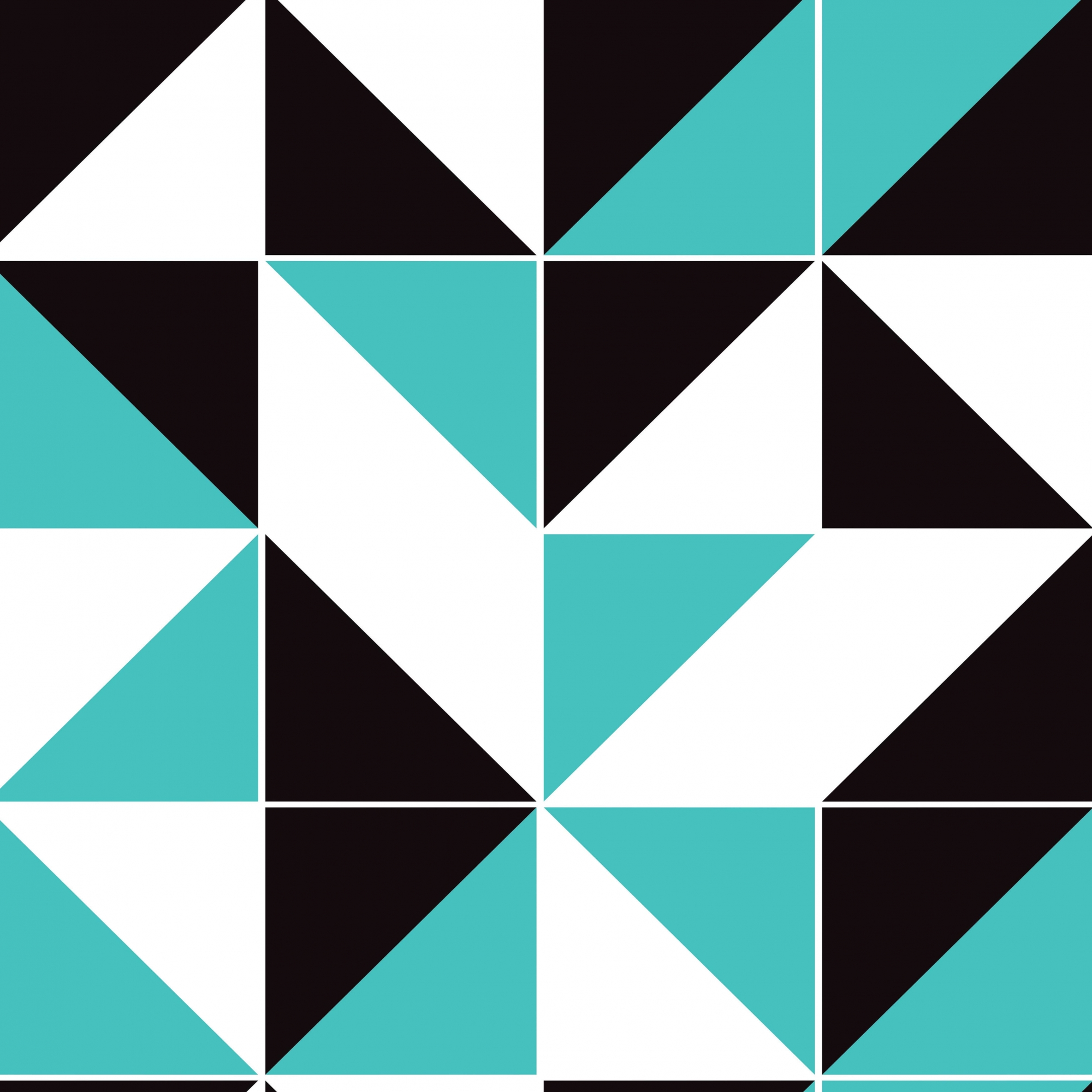 Papel de Parede Geométrico Preto Azul e Branco