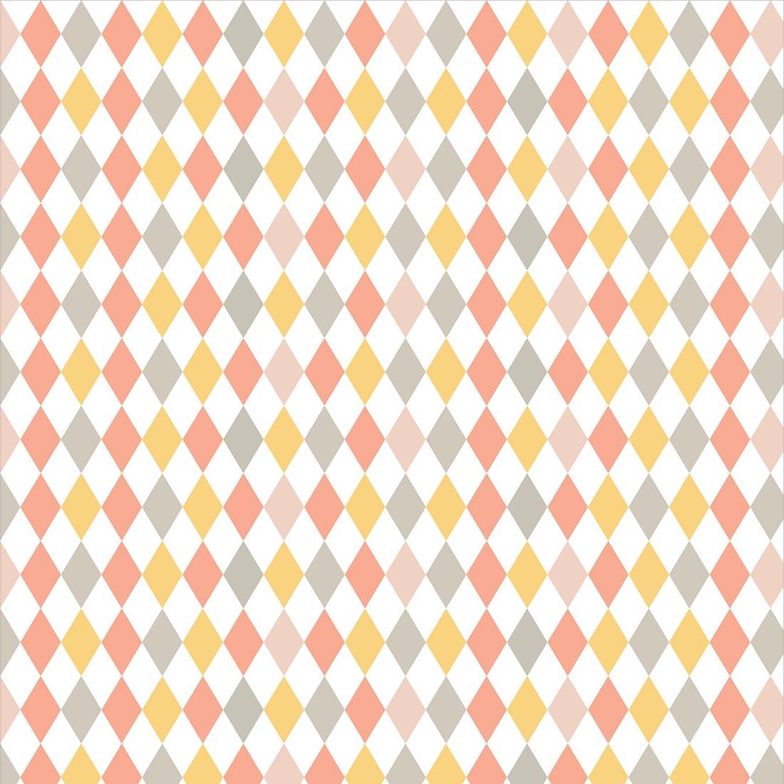 Papel de Parede Geométrico Prisma Colorido