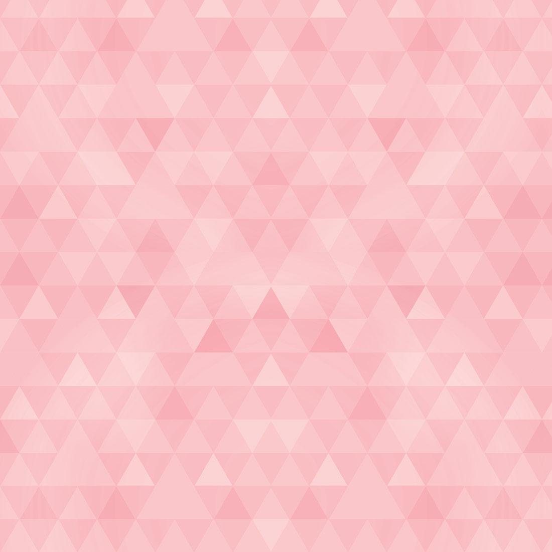 Papel de Parede Geométrico Quarto Menina Rosa