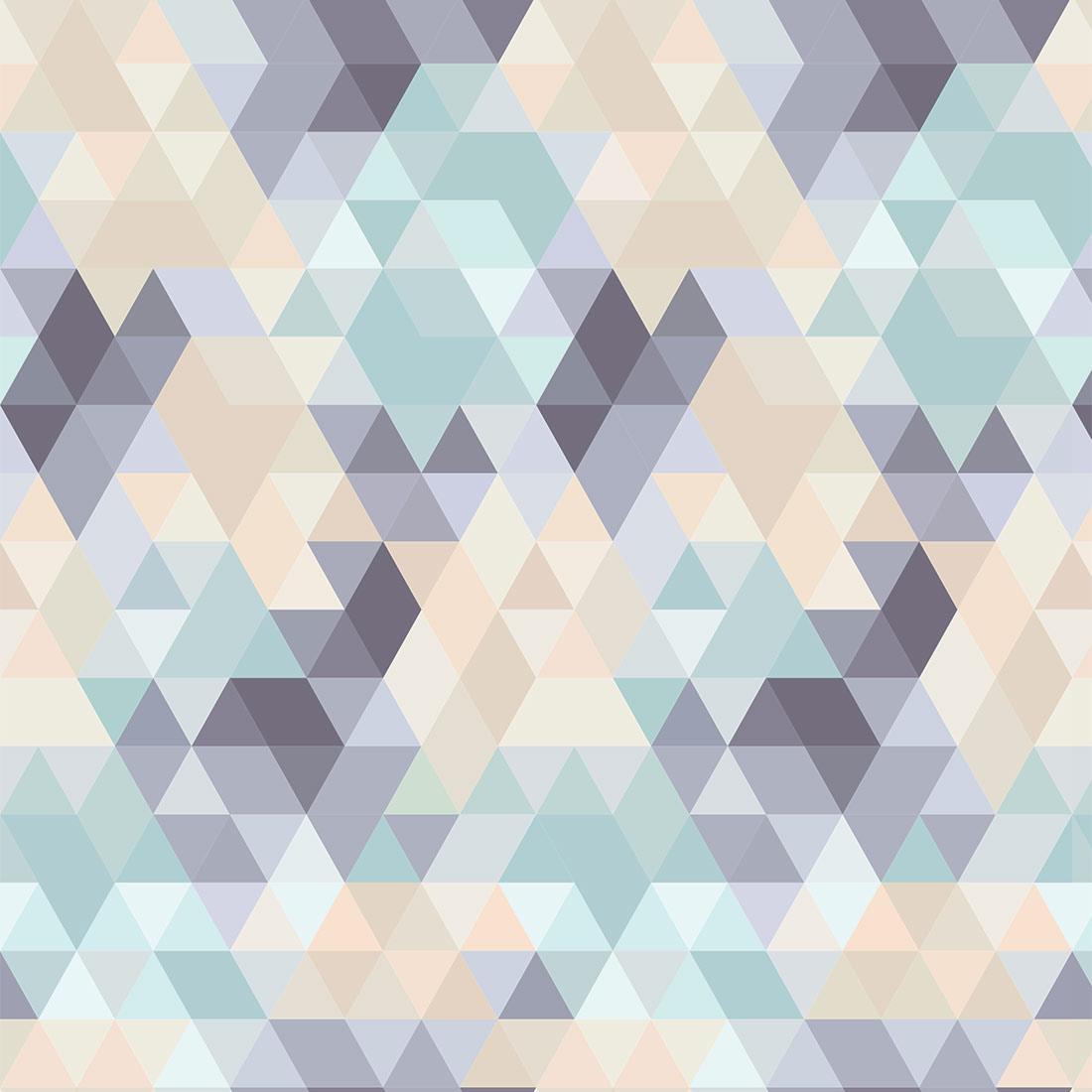 Papel de Parede Geométrico Tons Pasteis