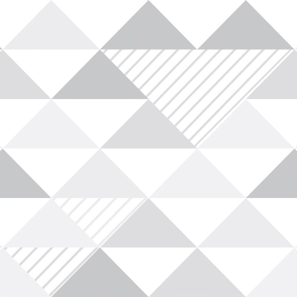 Papel de Parede Geométrico Tons de Cinza