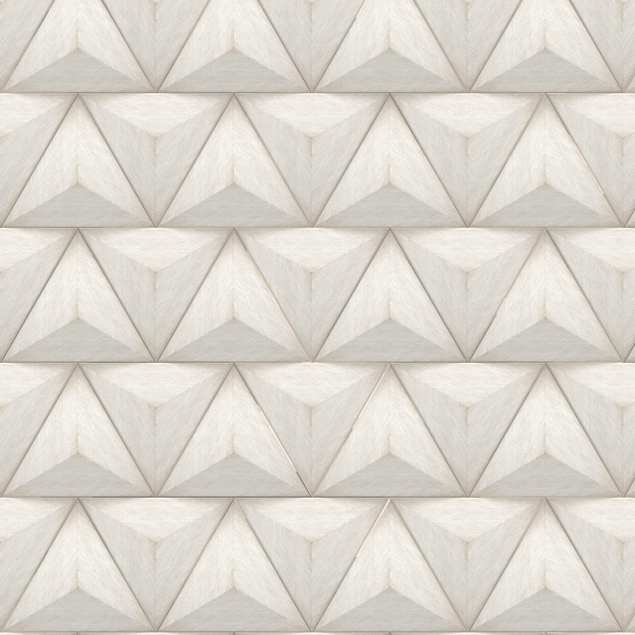 Papel de Parede Geométrico Triângulo Amadeirado Estilo 3D