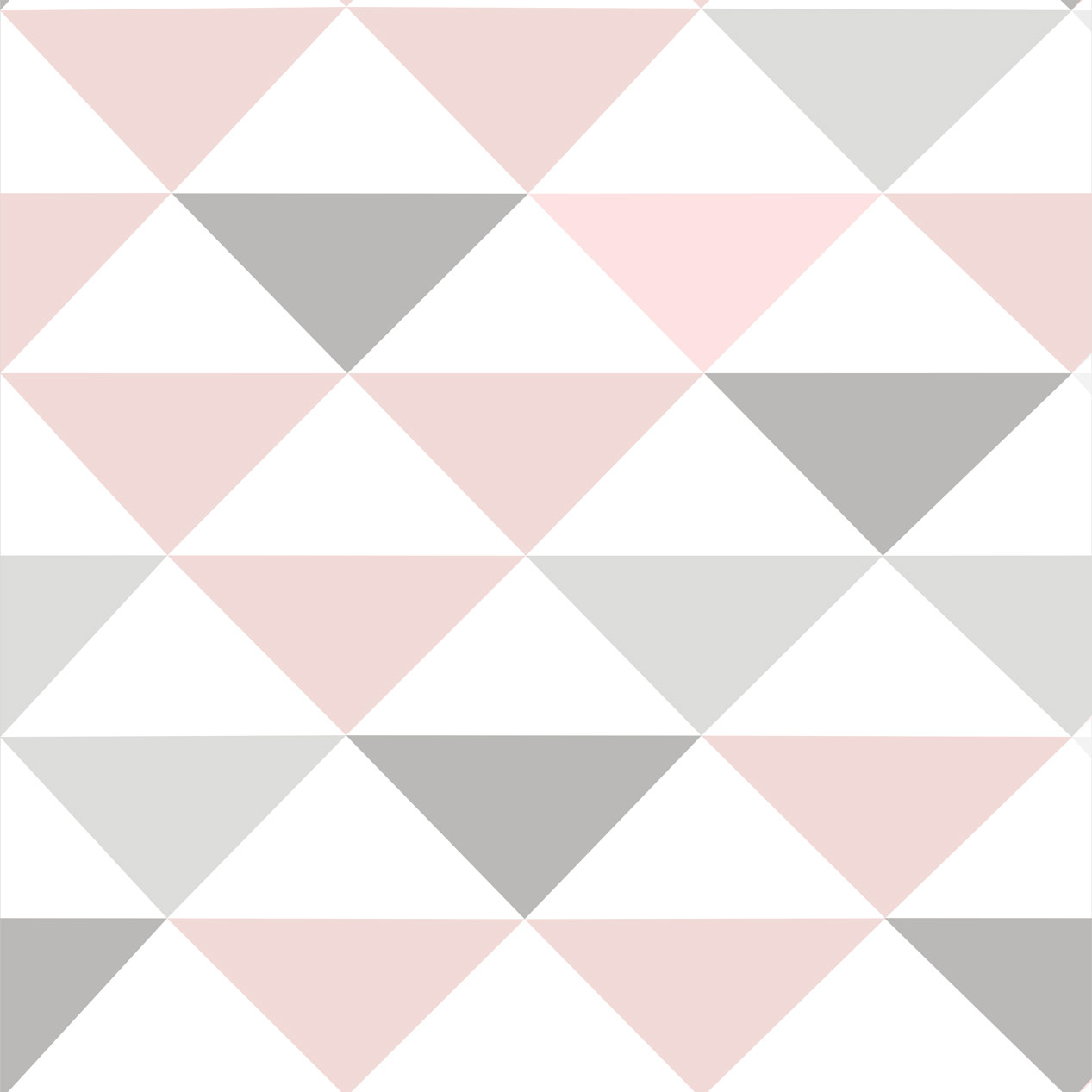 Papel de Parede Geométrico Triângulo Rosa Branco e Cinza