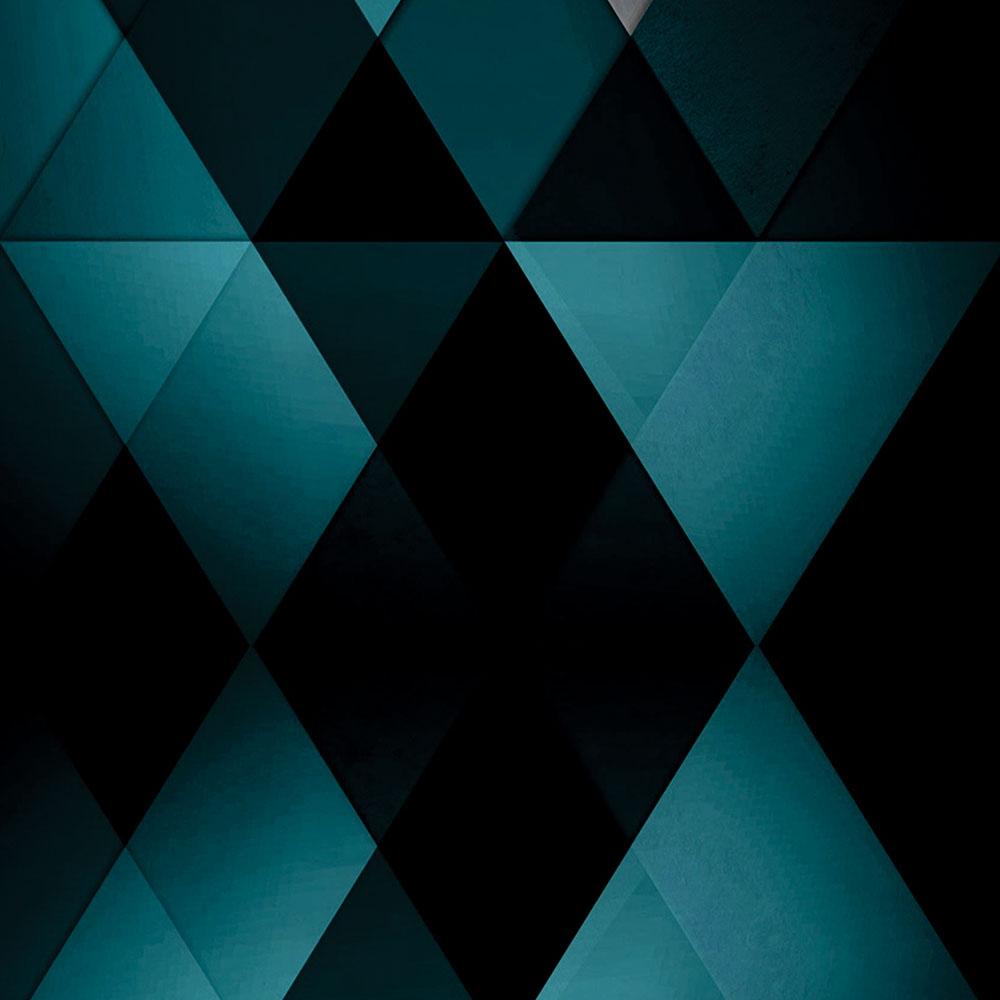 Papel de Parede Geométrico Triângulos Azul e Preto