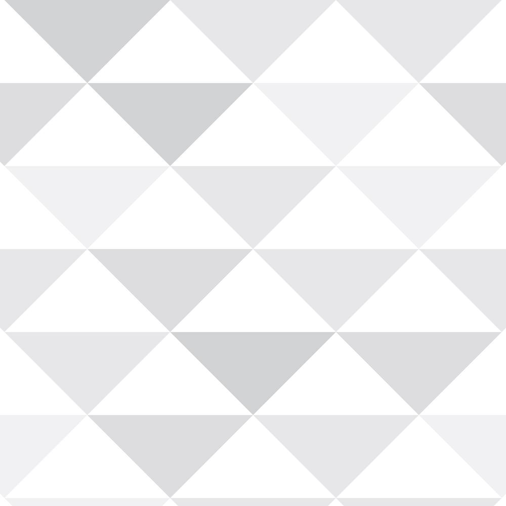 Papel de Parede Geométrico Triângulos Cinza e Branco