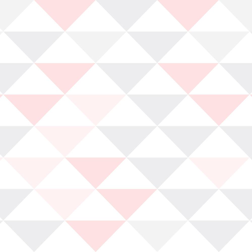 Papel de Parede Geométrico Triângulos Delicados