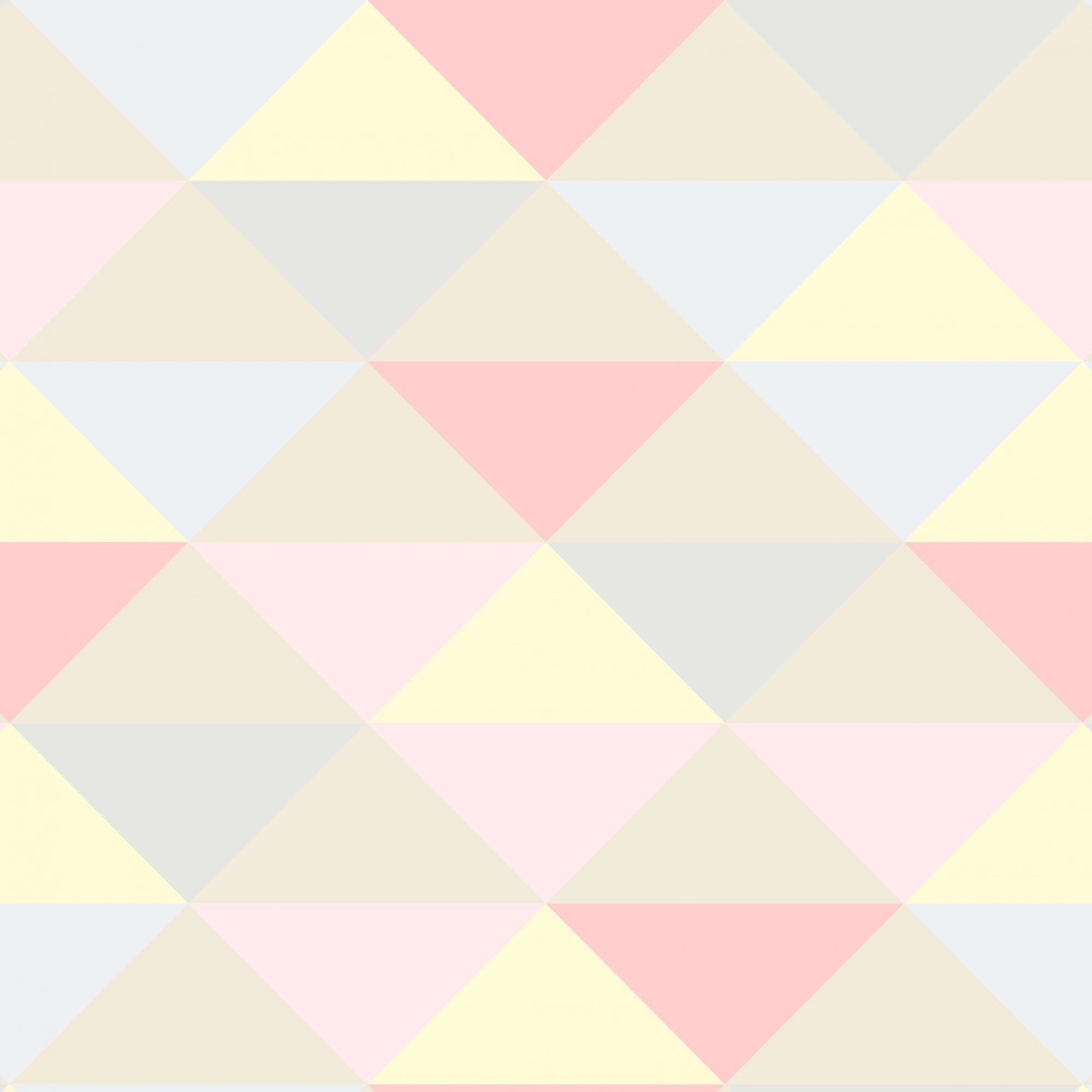 Papel de Parede Geométrico Triângulos Rosa Cinza Amarelo e Nude