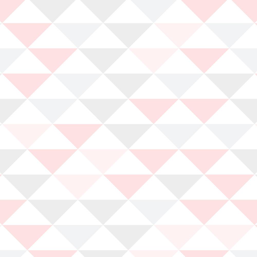 Papel de Parede Geométrico Triângulos Rosa Delicado