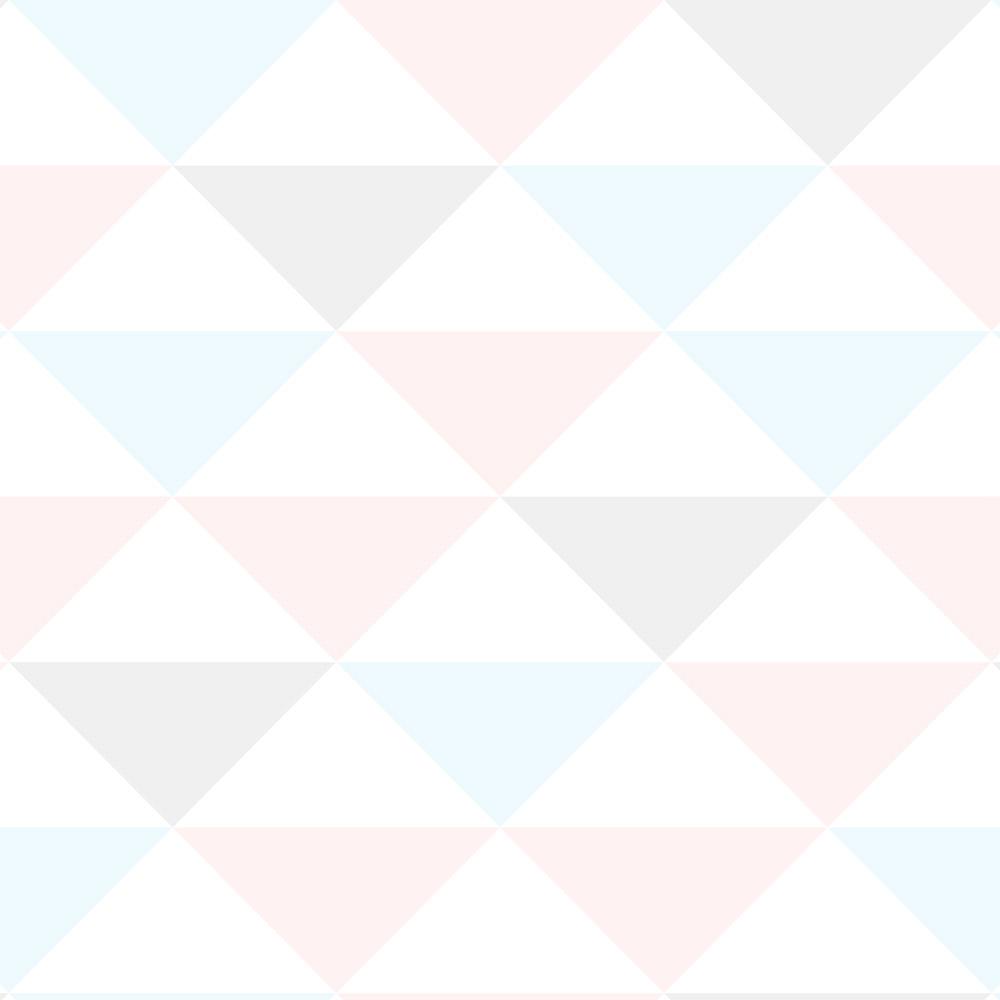 Papel de Parede Geométrico Triângulos Tons Neutros