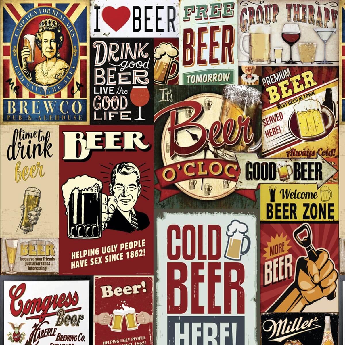 Papel De Parede I Love Beer Antigos Vintage Retrô Vinil