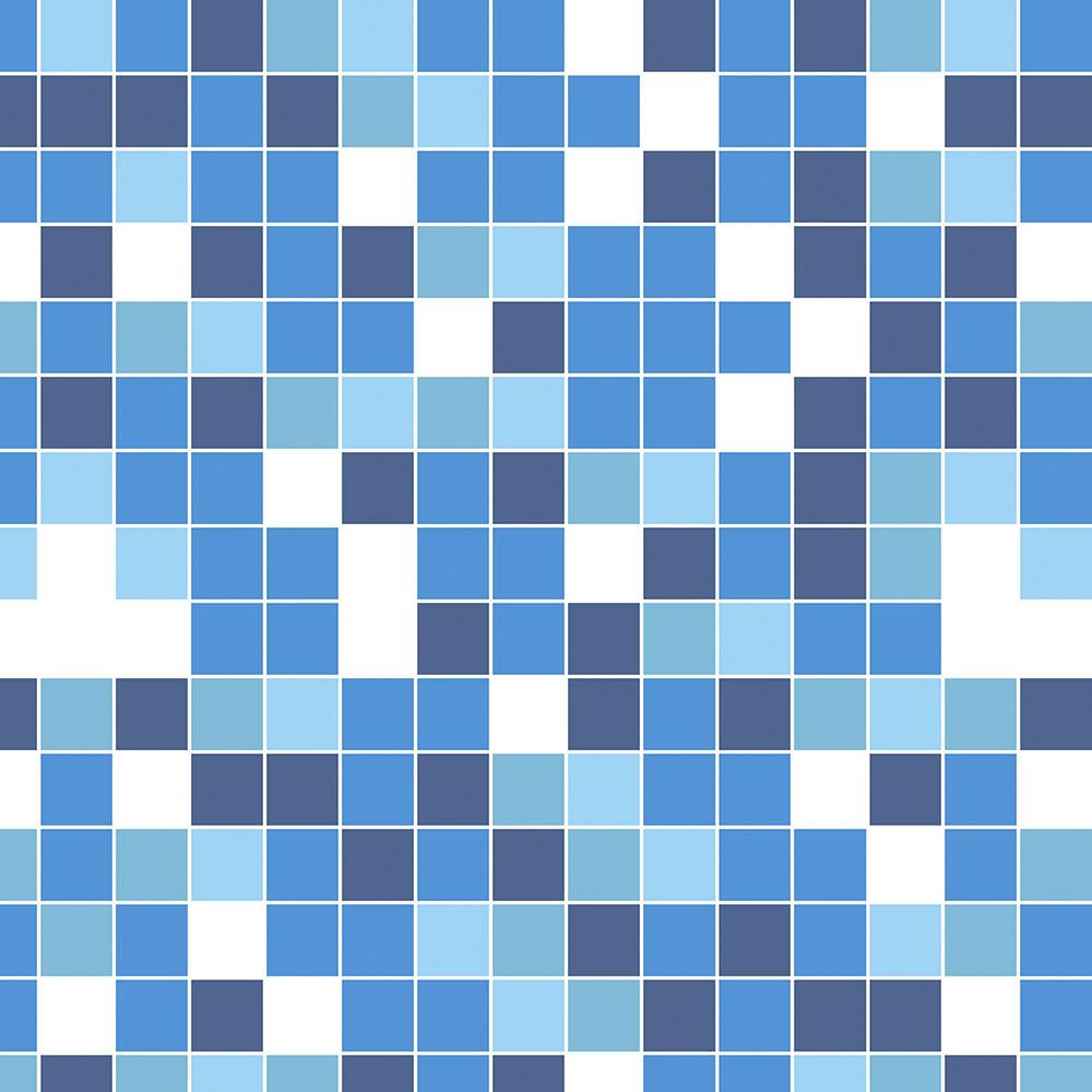 Papel de Parede Pastilha Tons De Azul