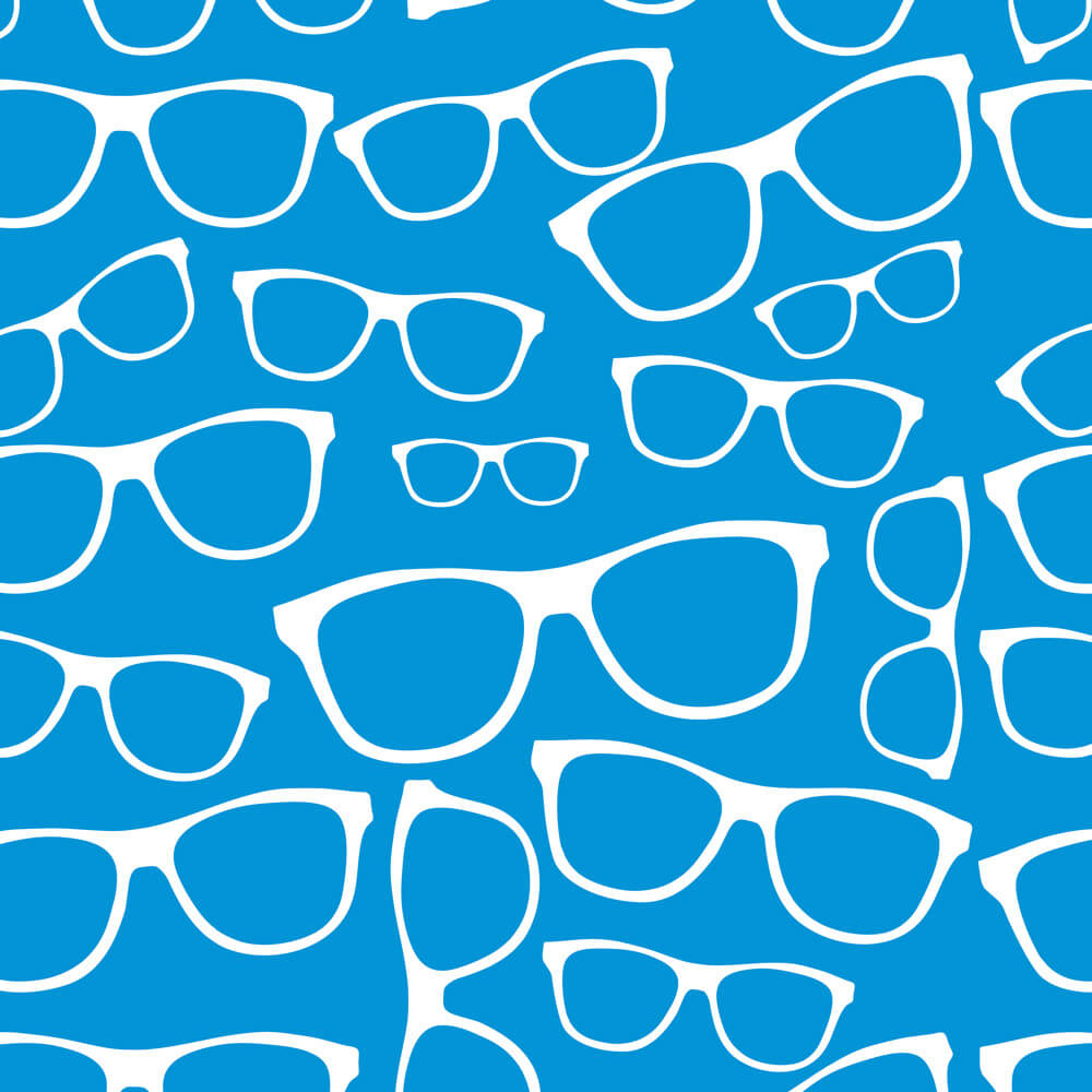 Papel de Parede Teen Óculos Azul