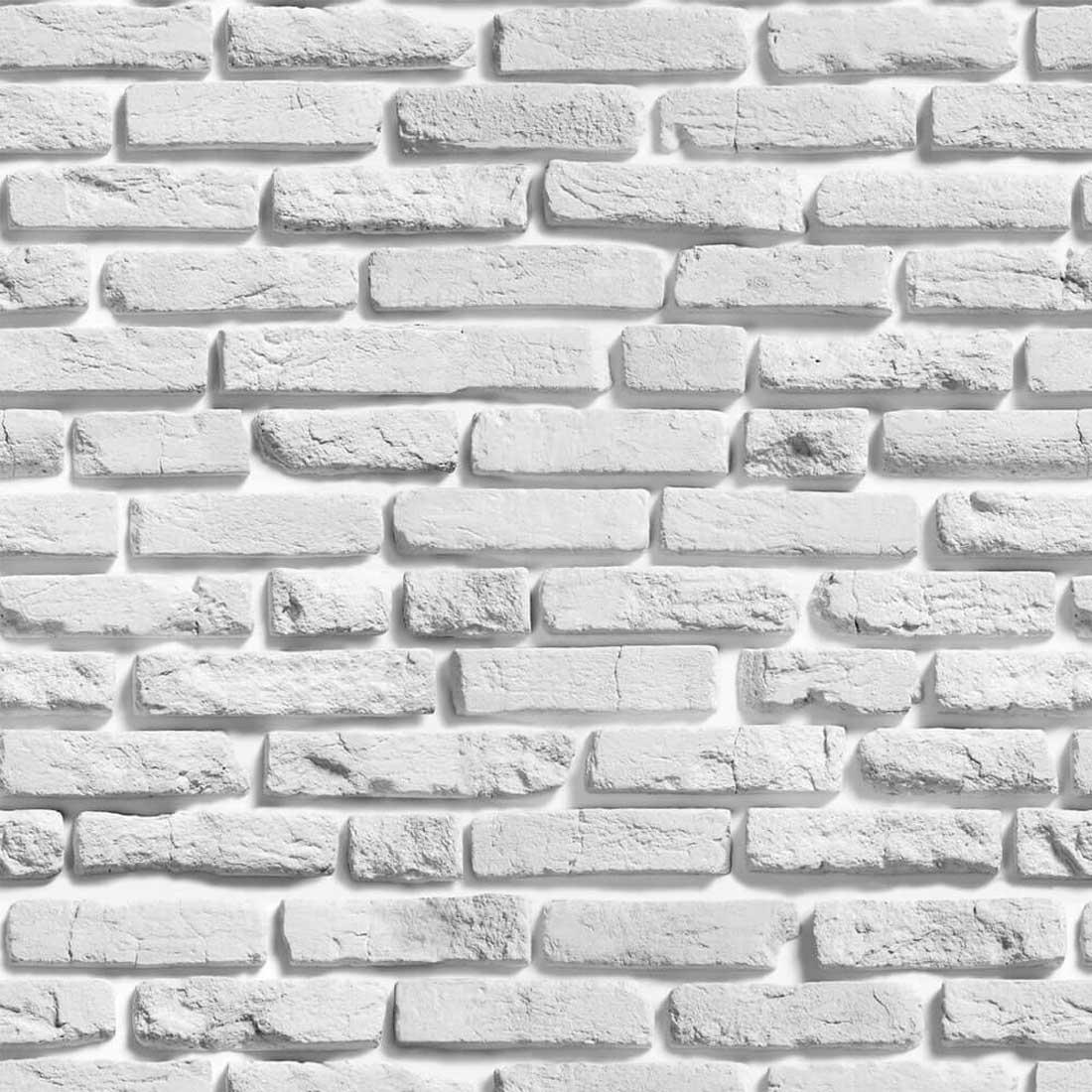 Papel de Parede Tijolo Branco Rústico
