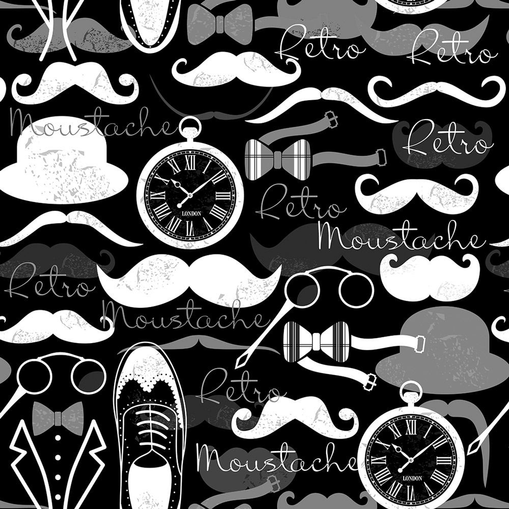Papel Parede Casual Barbearia Vintage