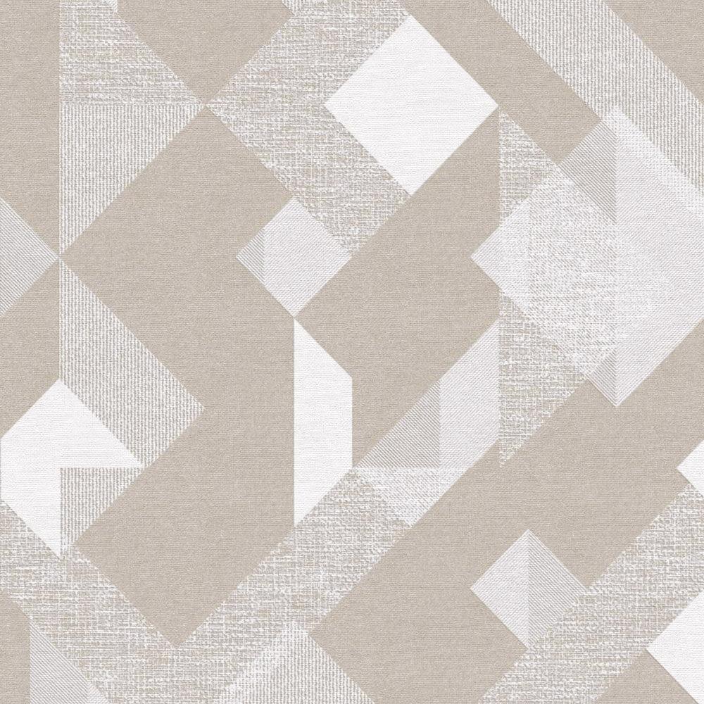 Papel Parede Geométrico Efeito Textura Cinza Tons Neutros