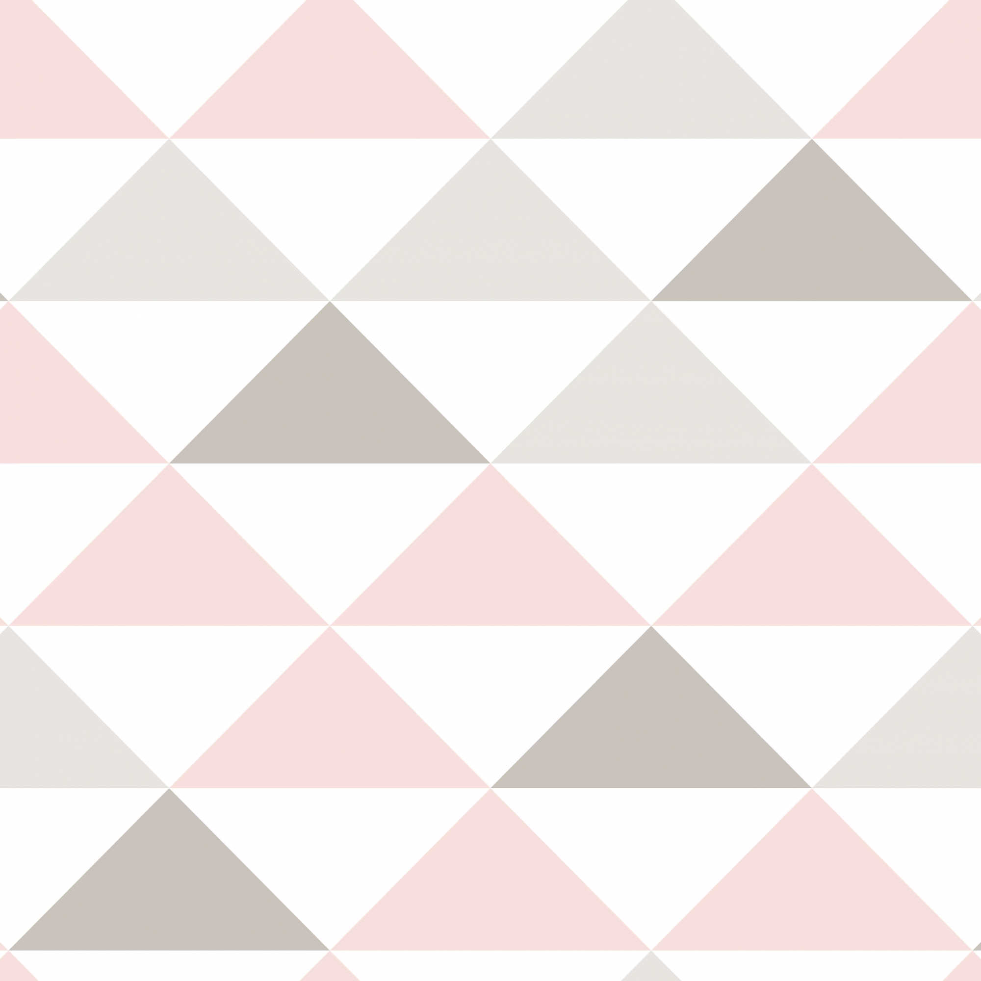 Papel Parede Geométrico Triângulos Rosa e Cinza
