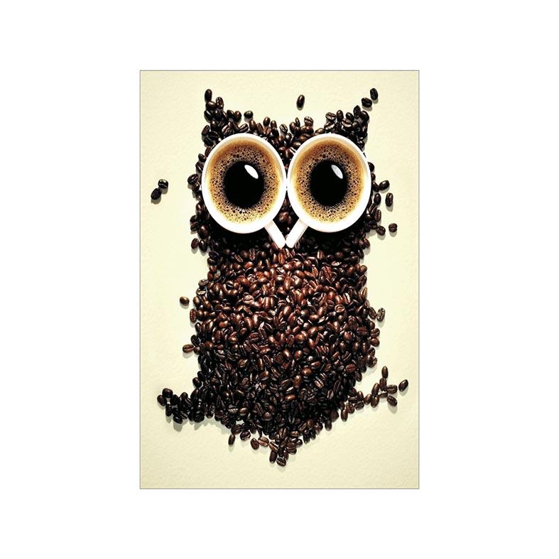 Placa Decorativa Coruja de Café