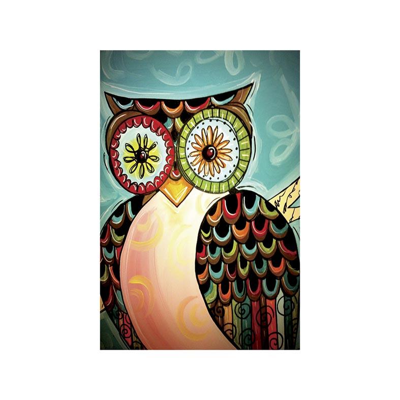 Placa Decorativa Coruja Estilosa