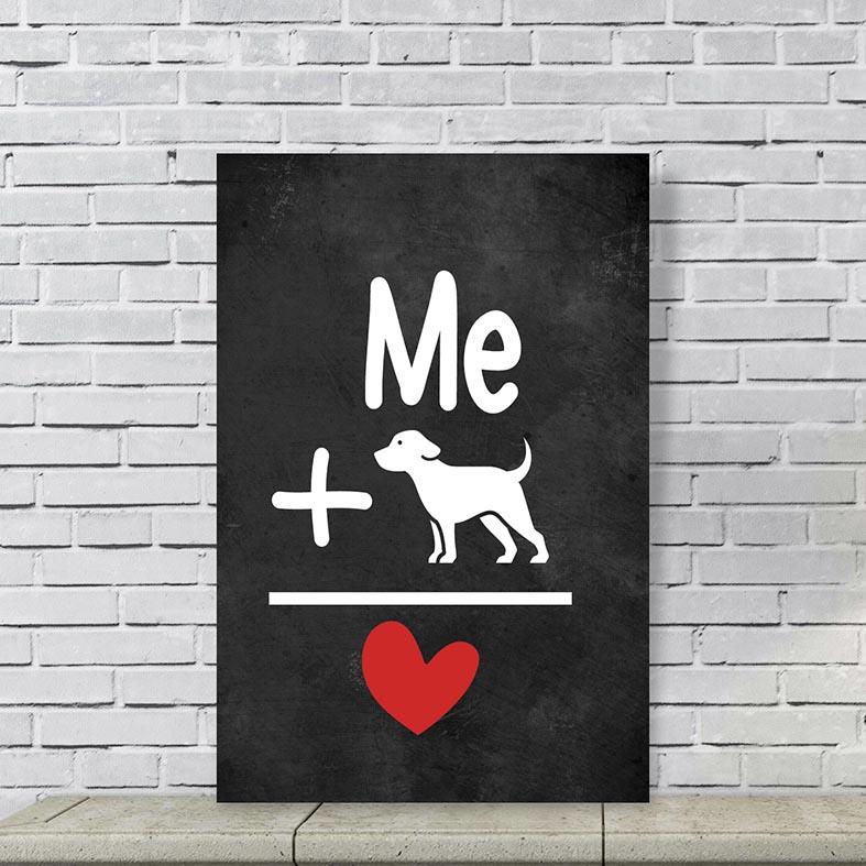 Placa Decorativa Eu e meu Cachorro