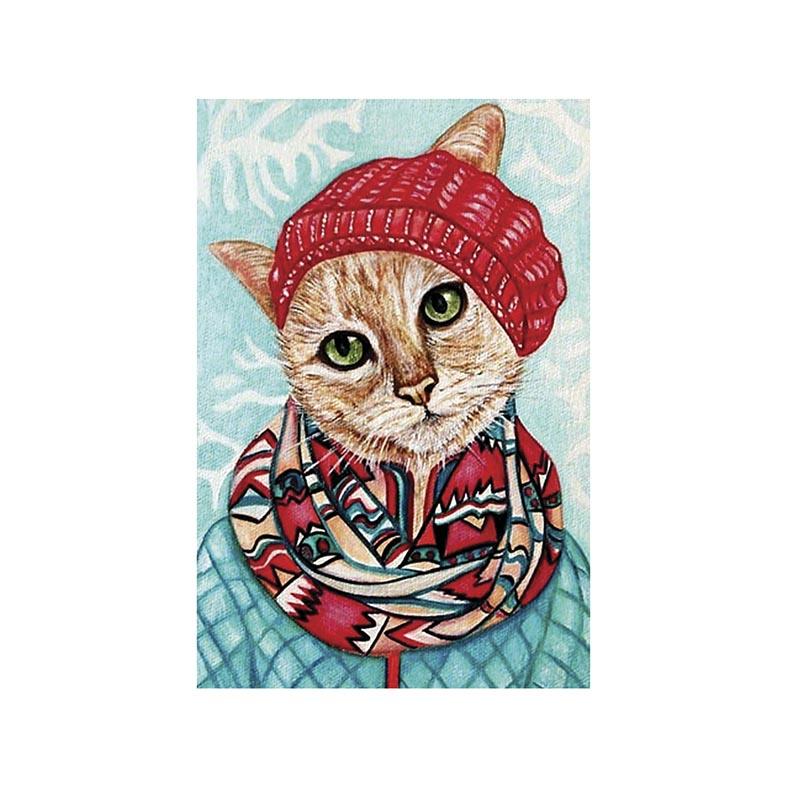 Placa Decorativa Gato com frio