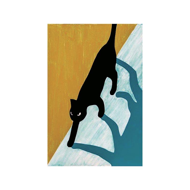 Placa Decorativa Gato no Muro