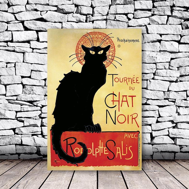 Placa Decorativa Gato Preto