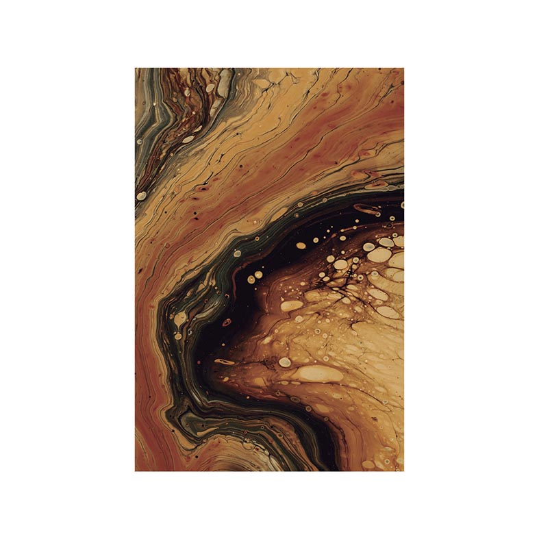 Quadro Decorativo Abstrato Tons de Terra