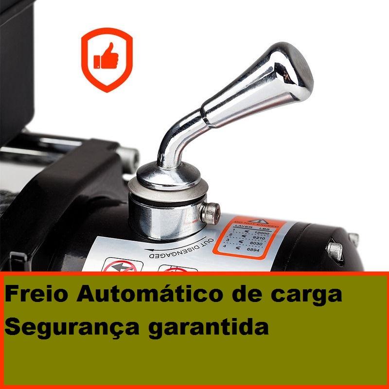 Guincho Elétrico 12000lbs Para Troller, Jipe, Defender, L200