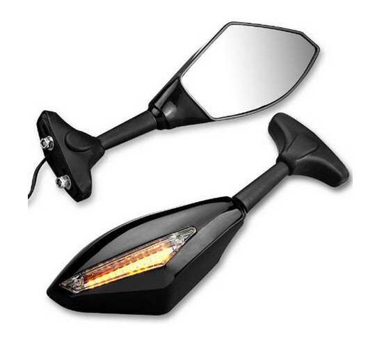 Espelho Retrovisor Com LED integrado. Preto
