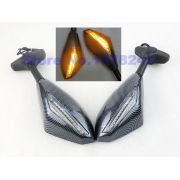 Espelho Retrovisor Com LED integrado. Cor Carbono - AF Parts