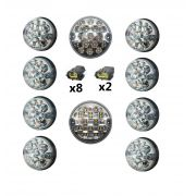 Kit Lanterna de LED Defender 90 ou 110 Lente Cristal