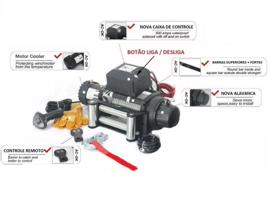 Guincho 13000lbs Bull Robust 6HP 5906kg elétrico