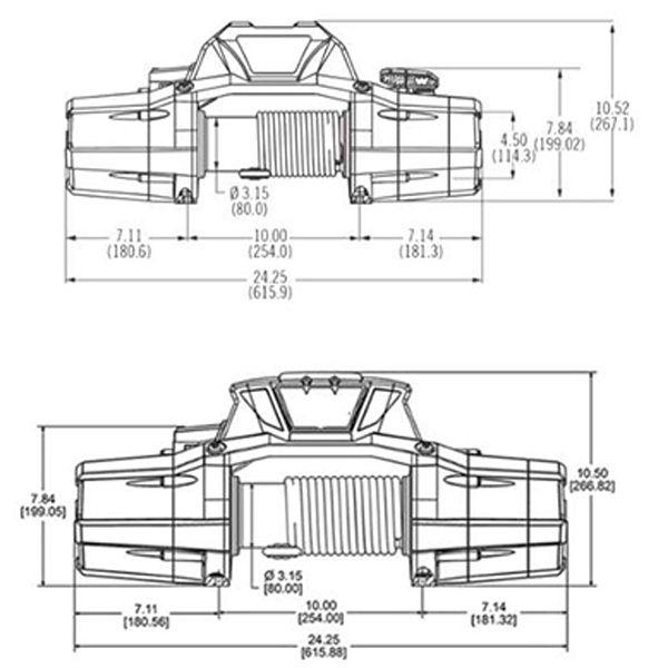 Guincho Bull 13000lbs Vortex Cabo Sintético Com Controle Remoto S/ Fio