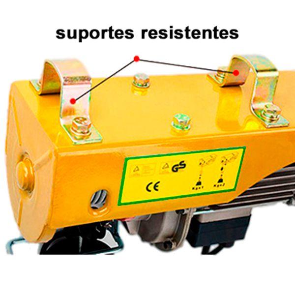 Talha elétrica 100/200kg - Guincho de Coluna Bull C/ Controle remoto 220V