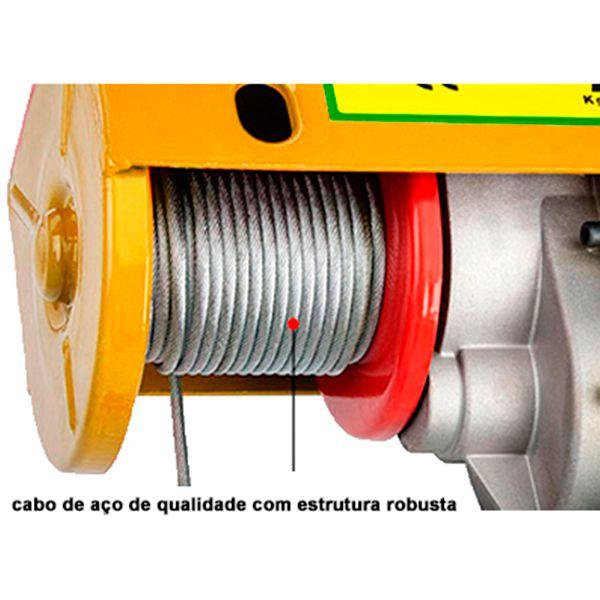 Talha Elétrica, Guincho de Coluna Bull 600/1200kg, 220v.