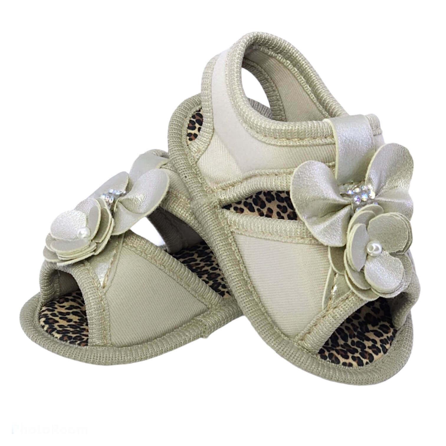 Sandália Baby Amy Dourada