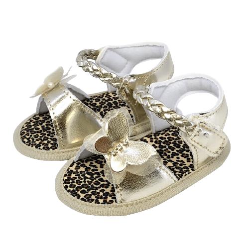 Sandália Baby Borboleta Dourada