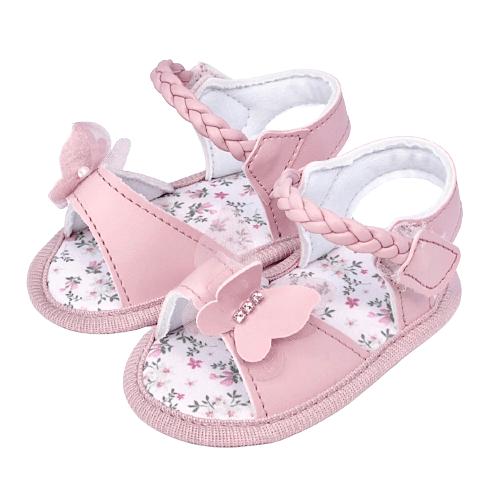 Sandália Baby Borboleta Rosa