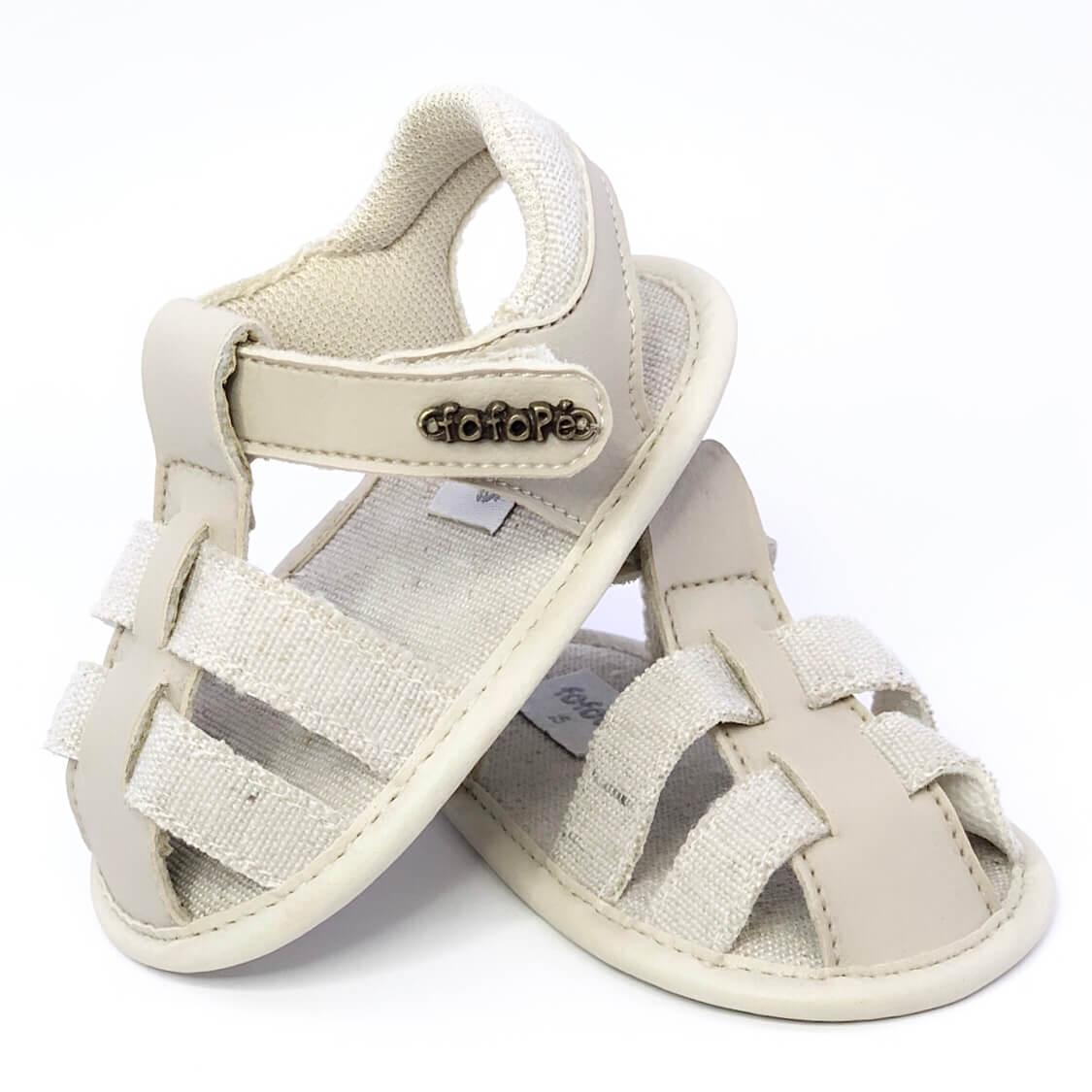 Sandália Baby Palha Fechada