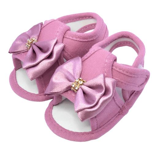 Sandália Baby Rosa Peônia