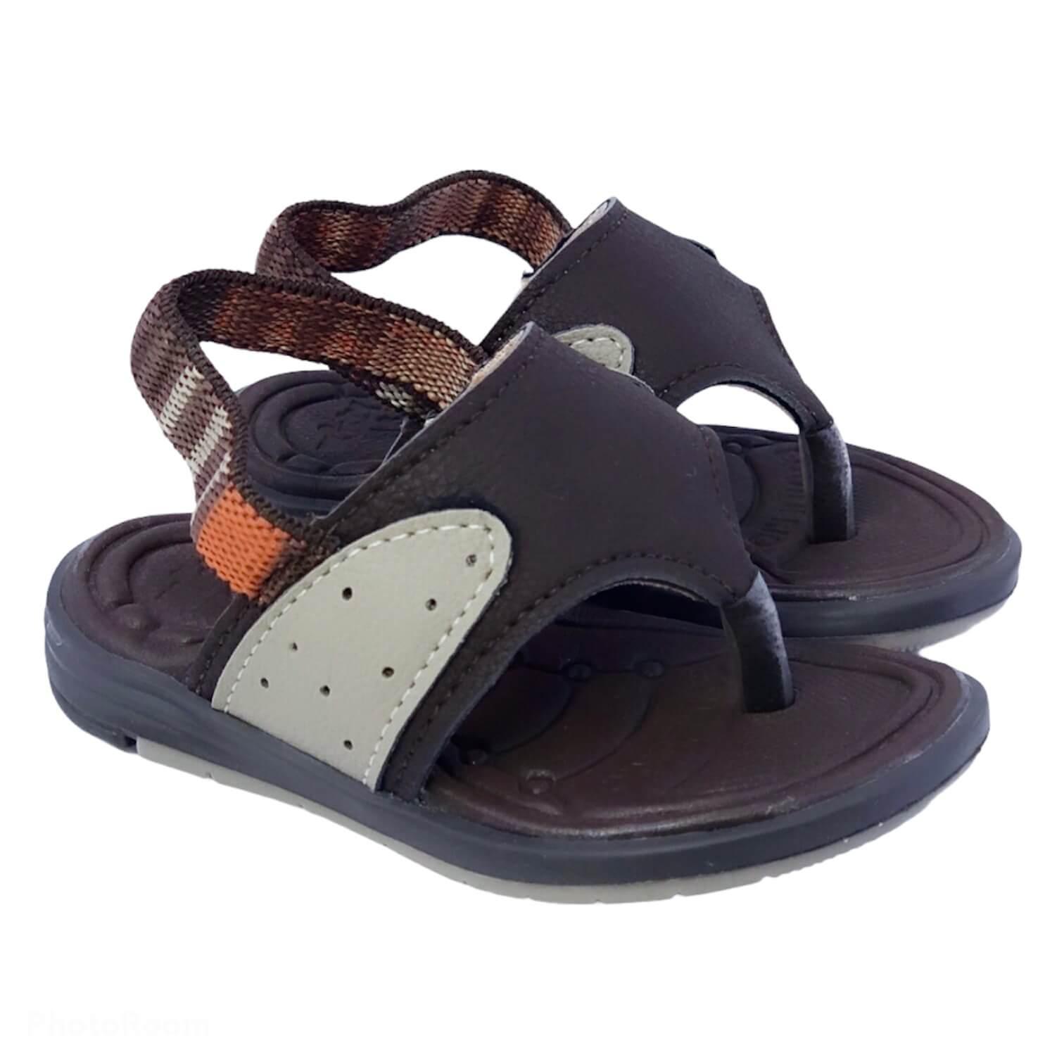 Sandália de Dedo Gu Marrom