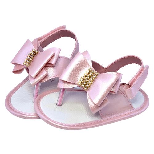 Sandália de Dedo Rosa Perolado