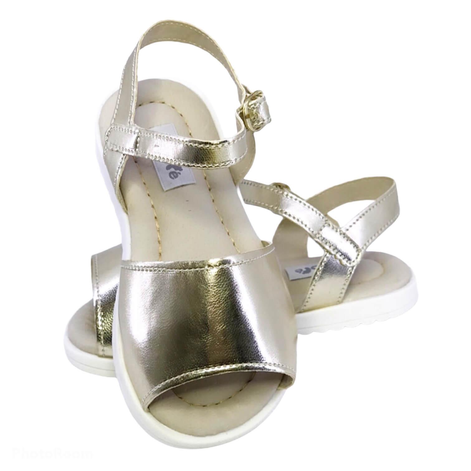Sandália Lisa Dourada