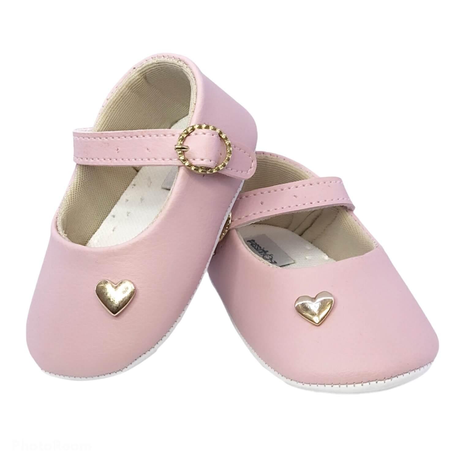 Sapatilha Baby Rosa Coração