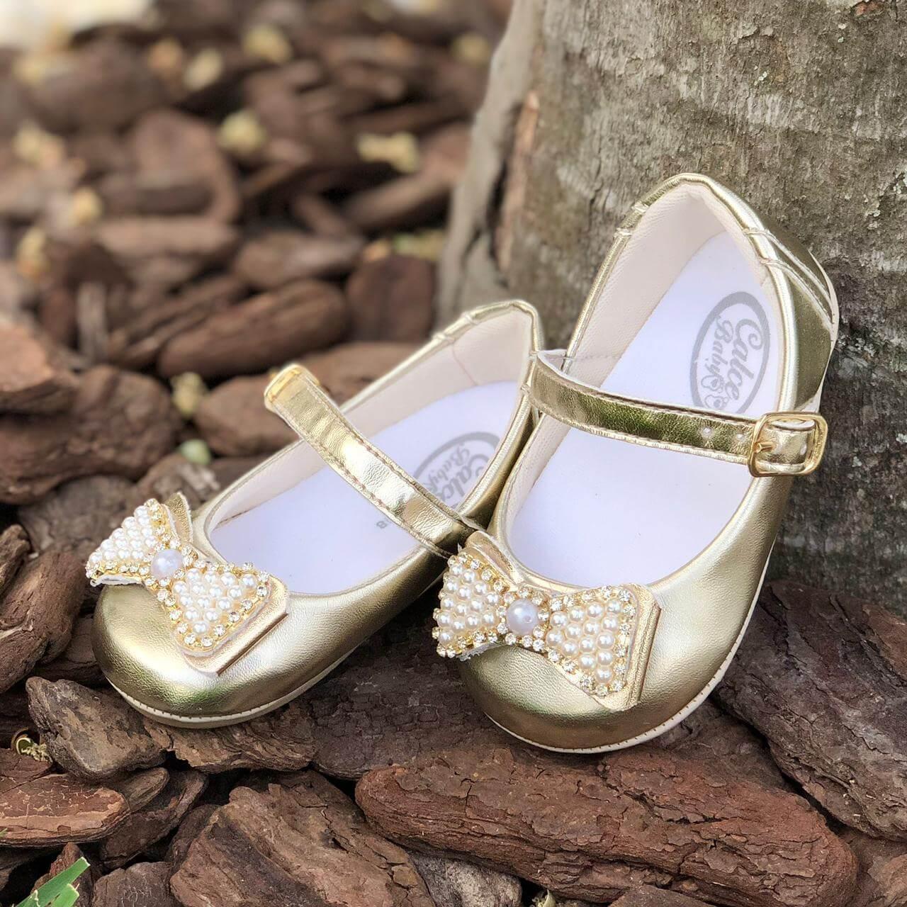 Sapatilha Dourada Elegancy