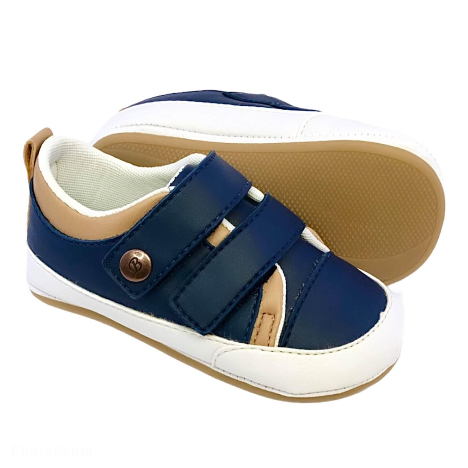 Sapato Azul Marinho e Caramelo