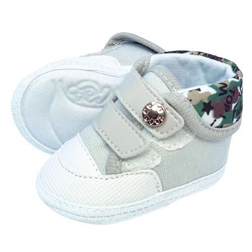 Sapato Baby Cinza Cano Alto