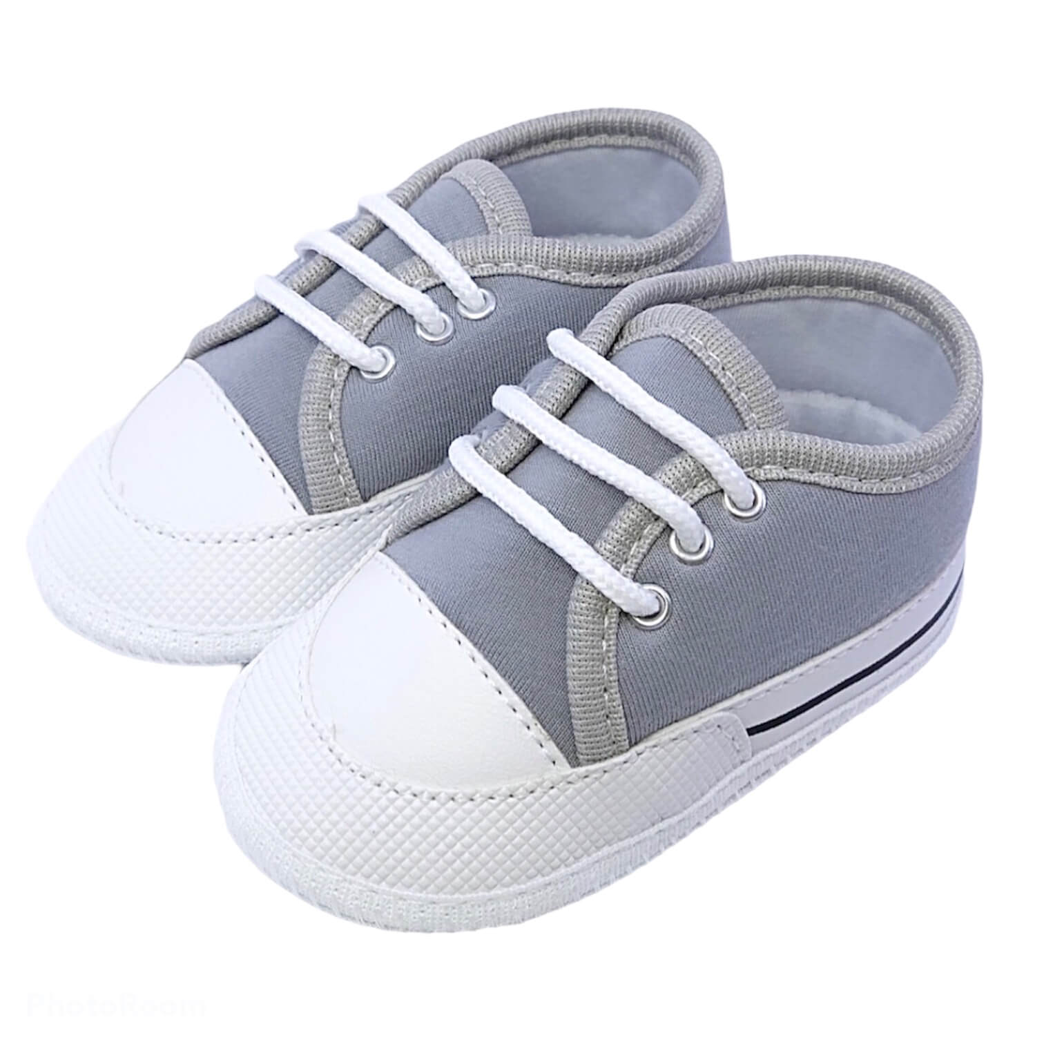 Sapato Baby Cinza Soft
